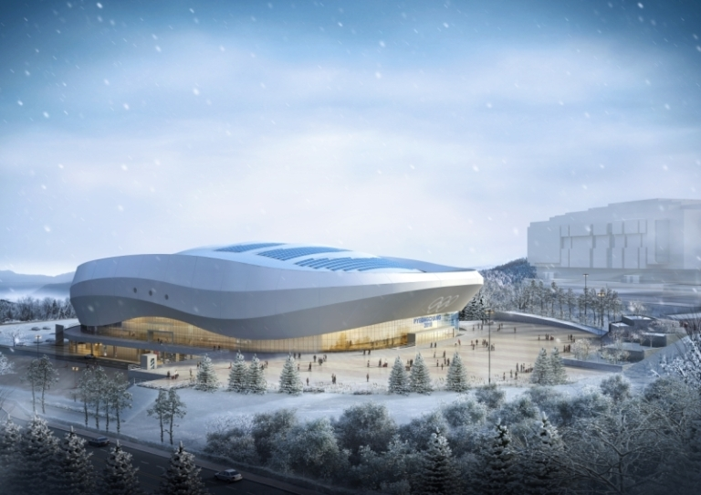Design of Gangneung Ice Arena Image by The PyeongChang 2018 Official Website