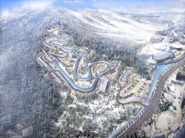 Design of the Alpensia Sliding Centre Image by The PyeongChang 2018 Official Website