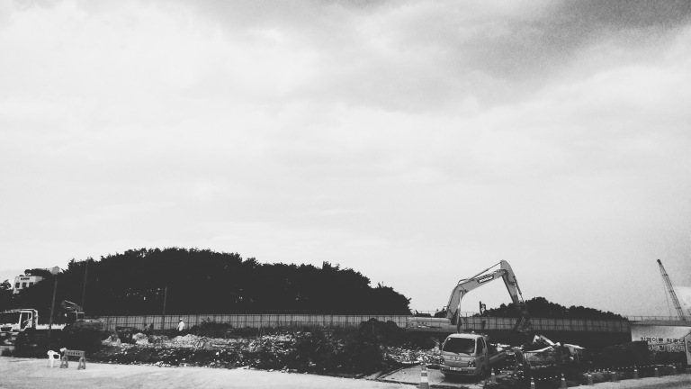 As of 2015, majority of the venues in Gangneung Coastal Cluster are still under construction. Image was taken on July 3rd, 2015