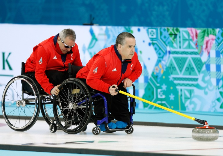 Photo of the Great Britain Wheelchair Curling team. Photo credits to the British Paralympics Association